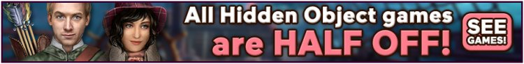 All Hidden Object Games are Half Off