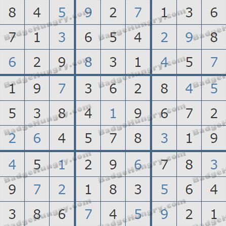 Pogo Daily Sudoku Solutions: June 5, 2019