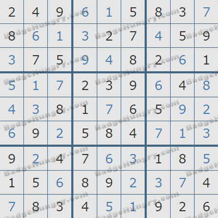 Pogo Daily Sudoku Solutions: June 6, 2019