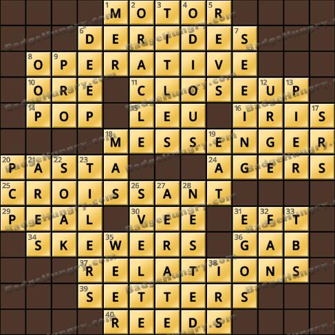 Crossword Cove HD Solution: June 7, 2019
