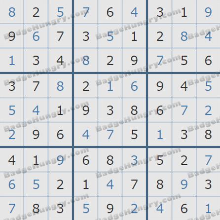 Pogo Daily Sudoku Solutions: June 8, 2019