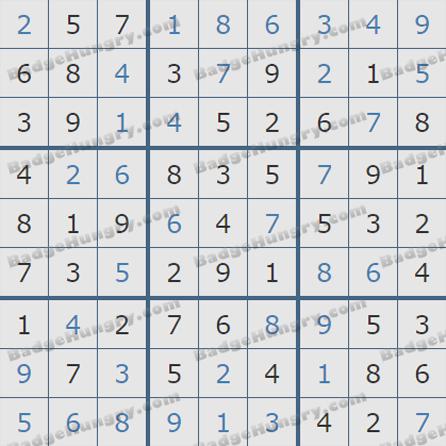 Pogo Daily Sudoku Solutions: June 9, 2019