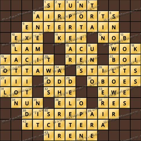 Crossword Cove HD Solution: June 9, 2019