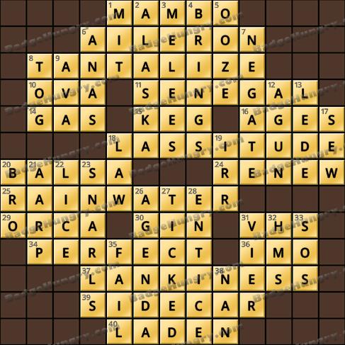 Crossword Cove HD Solution: June 10, 2019
