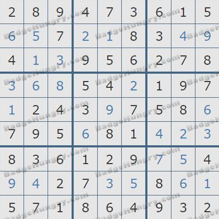 Pogo Daily Sudoku Solutions: June 11, 2019
