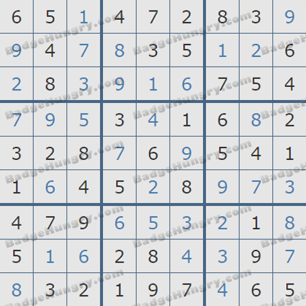 Pogo Daily Sudoku Solutions: June 12, 2019