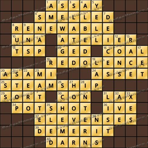 Crossword Cove HD Solution: June 12, 2019