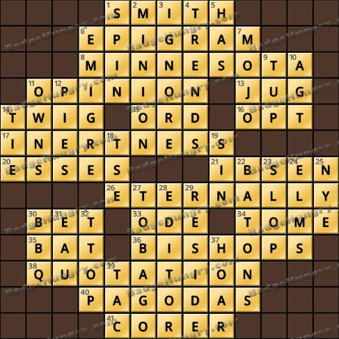 Crossword Cove HD Solution: June 13, 2019
