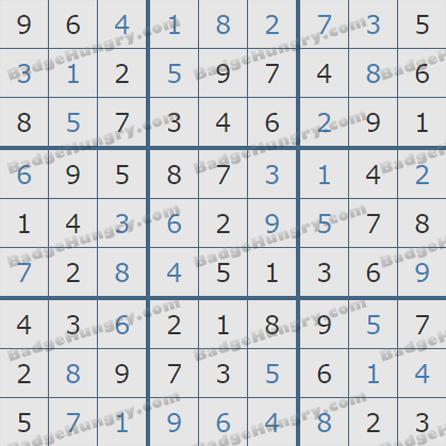 Pogo Daily Sudoku Solutions: June 14, 2019