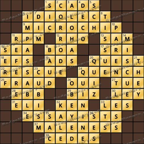 Crossword Cove HD Solution: June 14, 2019