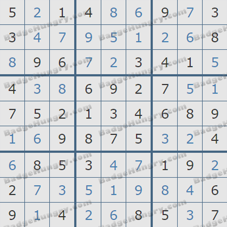 Pogo Daily Sudoku Solutions: June 16, 2019