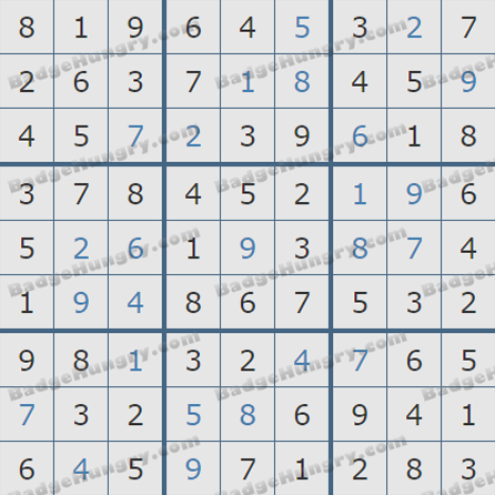 Pogo Daily Sudoku Solutions: June 17, 2019