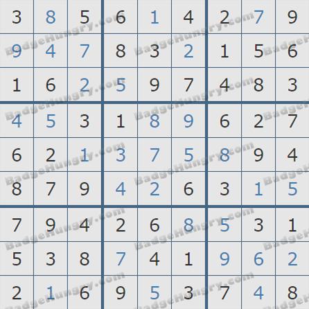 Pogo Daily Sudoku Solutions: June 18, 2019