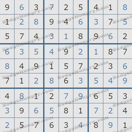 Pogo Daily Sudoku Solutions: June 19, 2019