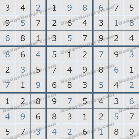 Pogo Daily Sudoku Solutions: June 20, 2019