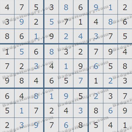 Pogo Daily Sudoku Solutions: June 21, 2019