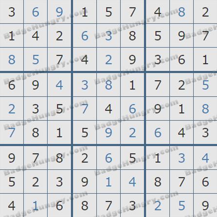 Pogo Daily Sudoku Solutions: June 22, 2019