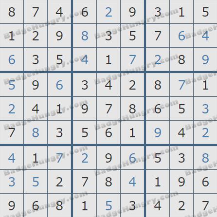 Pogo Daily Sudoku Solutions: June 23, 2019