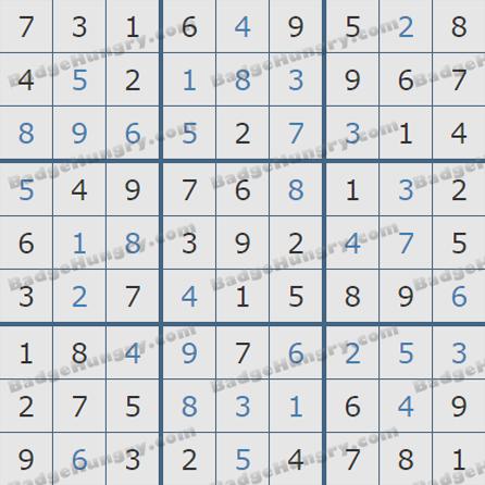 Pogo Daily Sudoku Solutions: June 24, 2019