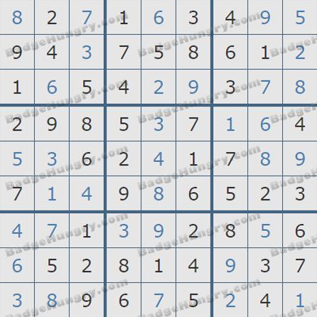 Pogo Daily Sudoku Solutions: June 25, 2019