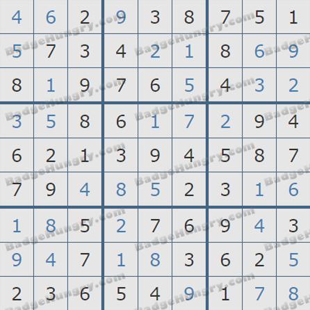 Pogo Daily Sudoku Solutions: June 27, 2019