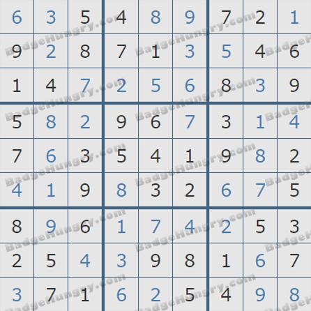 Pogo Daily Sudoku Solutions: June 29, 2019