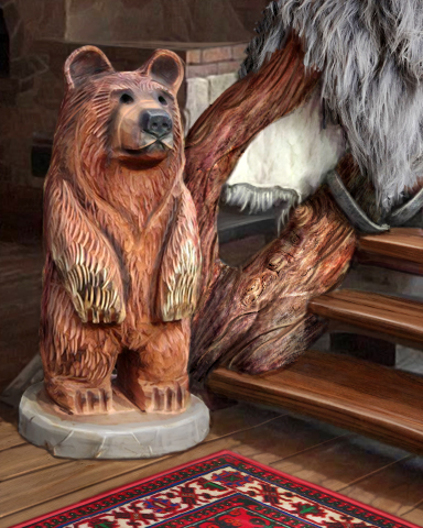 Claire Hart 2 - Case 16, Episode 2: By The Bears - Lodge Sculpture Badge