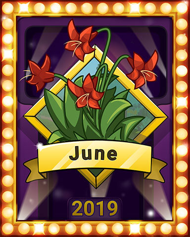 June 2019 Game of the Month Solitaire Gardens Badge