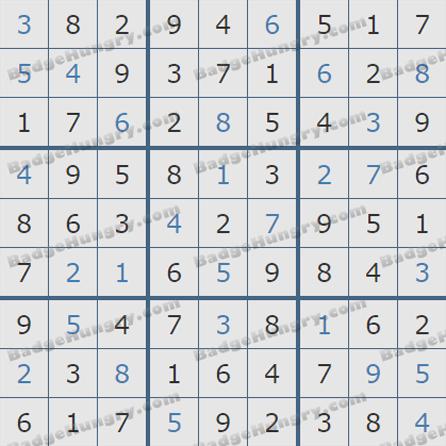 Pogo Daily Sudoku Solutions: July 1, 2019