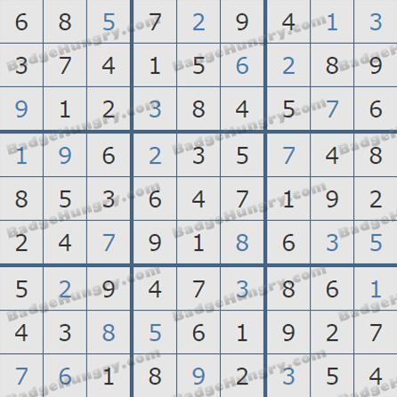 Pogo Daily Sudoku Solutions: July 2, 2019