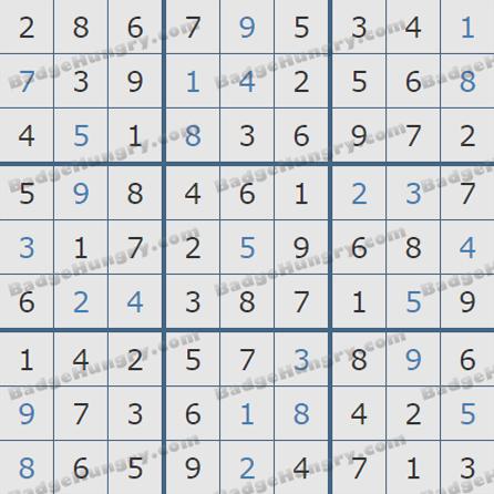 Pogo Daily Sudoku Solutions: July 3, 2019