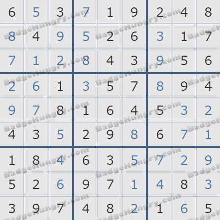 Pogo Daily Sudoku Solutions: July 4, 2019