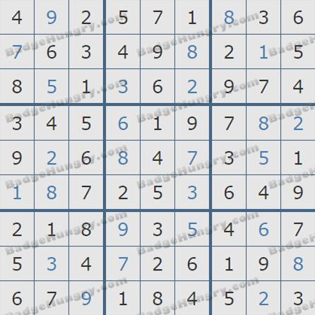 Pogo Daily Sudoku Solutions: July 7, 2019