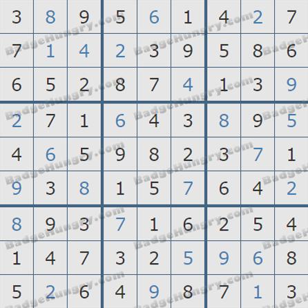 Pogo Daily Sudoku Solutions: July 8, 2019