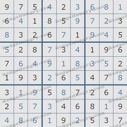 Pogo Daily Sudoku Solutions: July 9, 2019