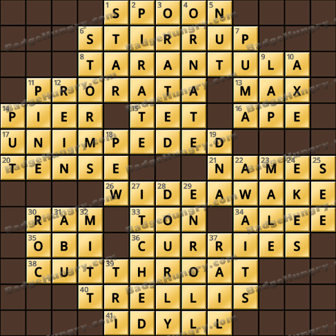 Crossword Cove HD Solution: July 10, 2019