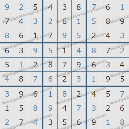Pogo Daily Sudoku Solutions: July 11, 2019