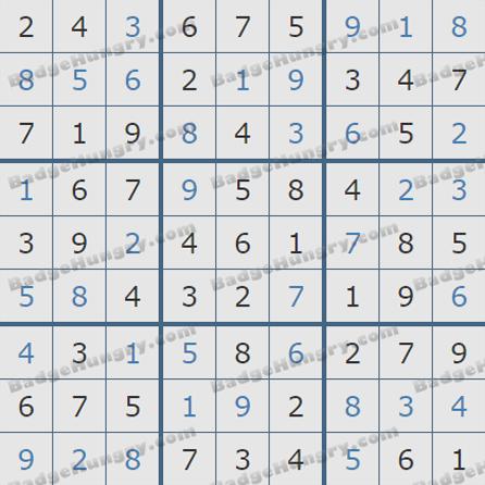 Pogo Daily Sudoku Solutions: July 12, 2019