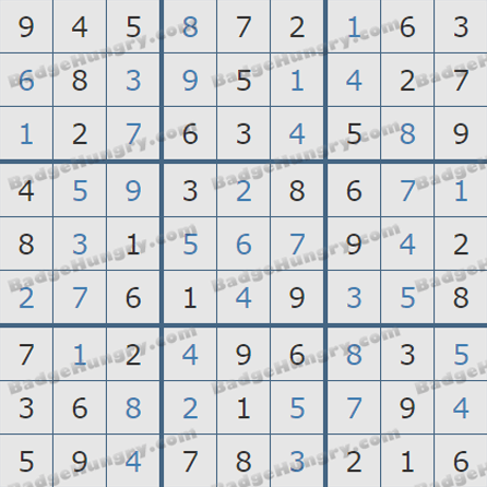 Pogo Daily Sudoku Solutions: July 13, 2019