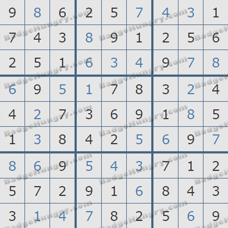 Pogo Daily Sudoku Solutions: July 15, 2019