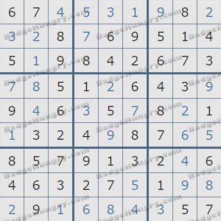 Pogo Daily Sudoku Solutions: July 18, 2019