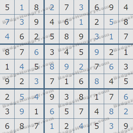 Pogo Daily Sudoku Solutions: July 19, 2019