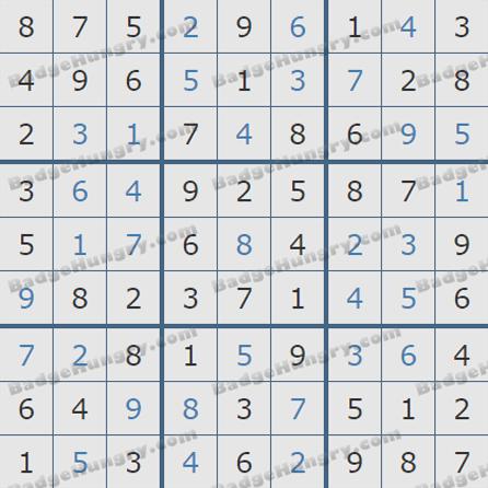 Pogo Daily Sudoku Solutions: July 21, 2019