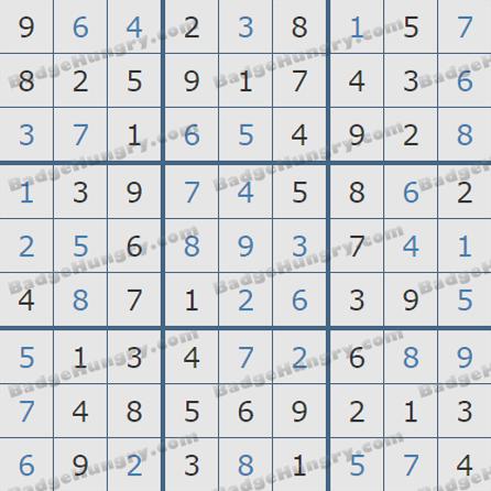 Pogo Daily Sudoku Solutions: July 22, 2019