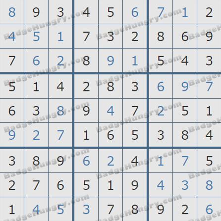 Pogo Daily Sudoku Solutions: July 23, 2019