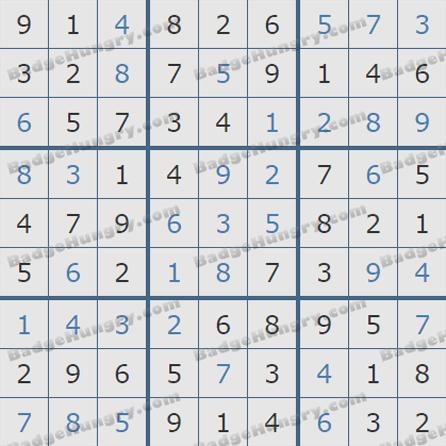 Pogo Daily Sudoku Solutions: July 24, 2019