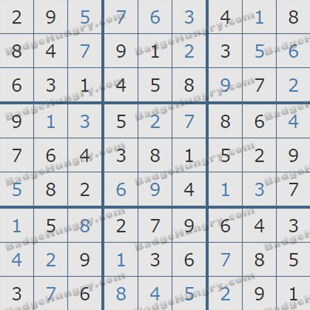 Pogo Daily Sudoku Solutions: July 25, 2019