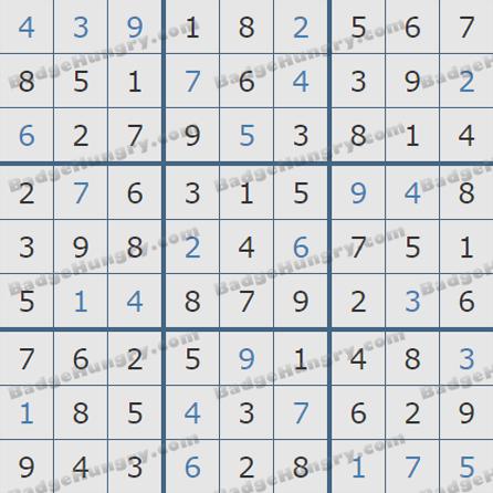 Pogo Daily Sudoku Solutions: July 27, 2019