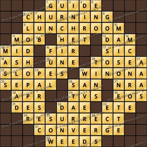 Crossword Cove HD Solution: July 27, 2019