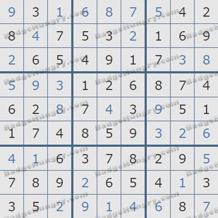 Pogo Daily Sudoku Solutions: July 28, 2019
